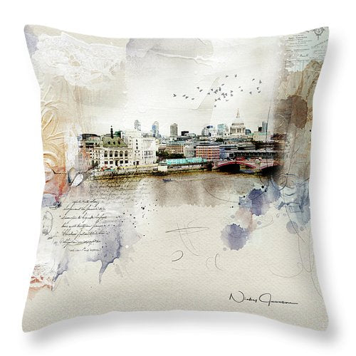 Across The River - Throw Pillow