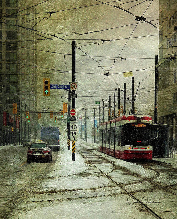 That Day It Snowed 1 - Art Print