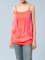 Dual Fabric Maternity Cami with Charmeuse Overlay