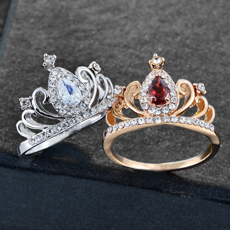 Queen Gem Crown Rings