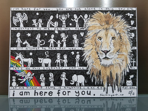 Lion (I am here for you) ACEO Print - The Tiny Art Co