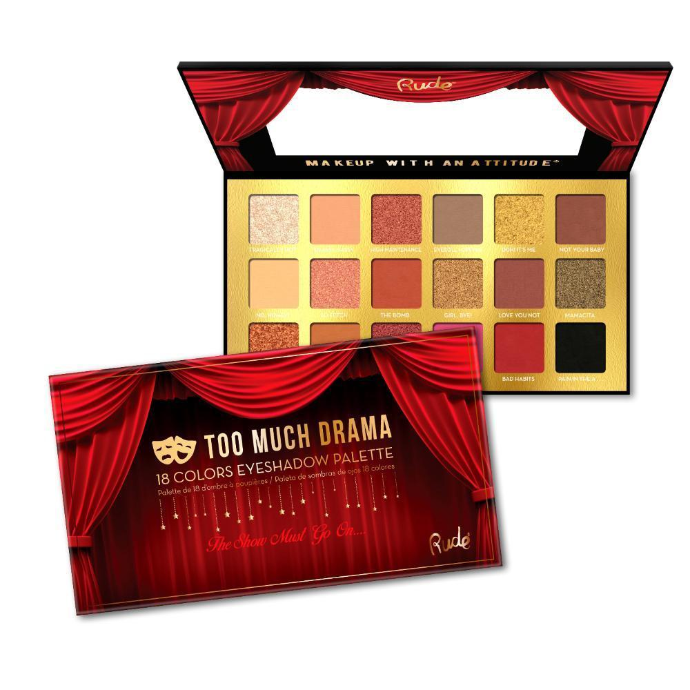 Rude Cosmetics Too Much Drama - 18 Eyeshadow Palette