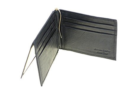 Paul & Taylor Black Leather Slim Bifold Wallet