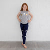 Stars Silver Navy Leggings