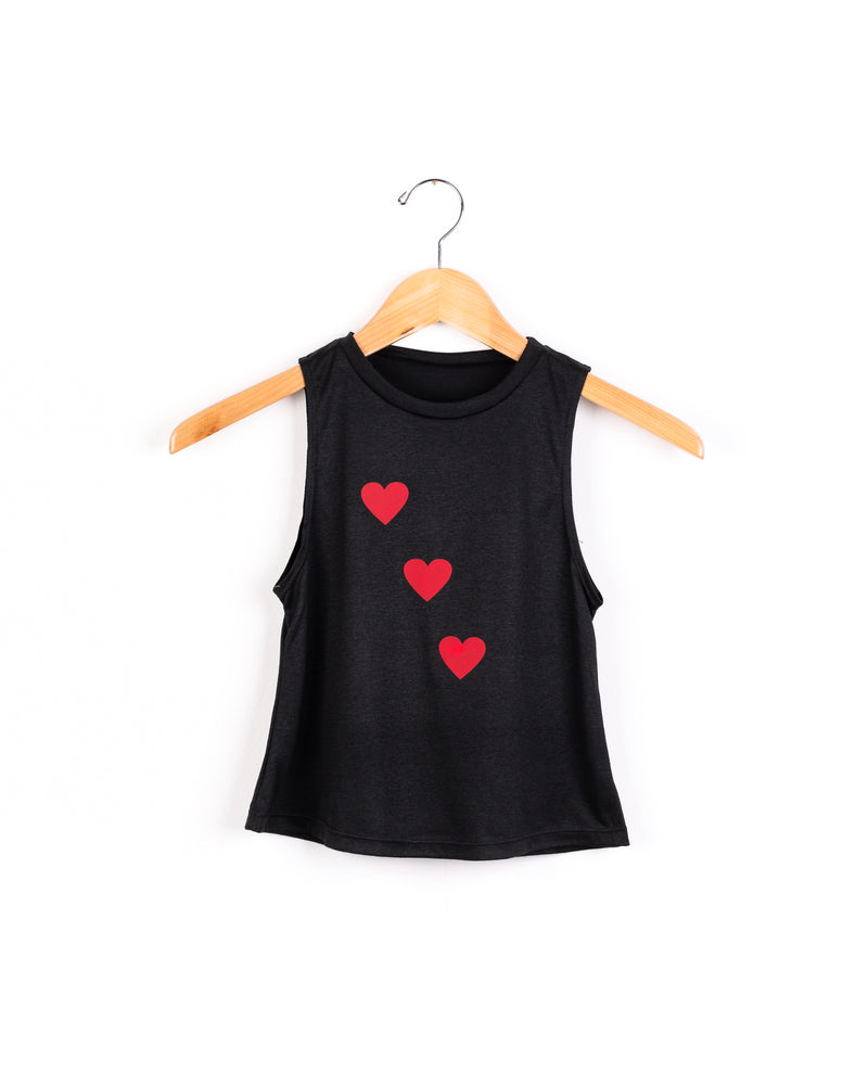 Hearts Red Black Tank