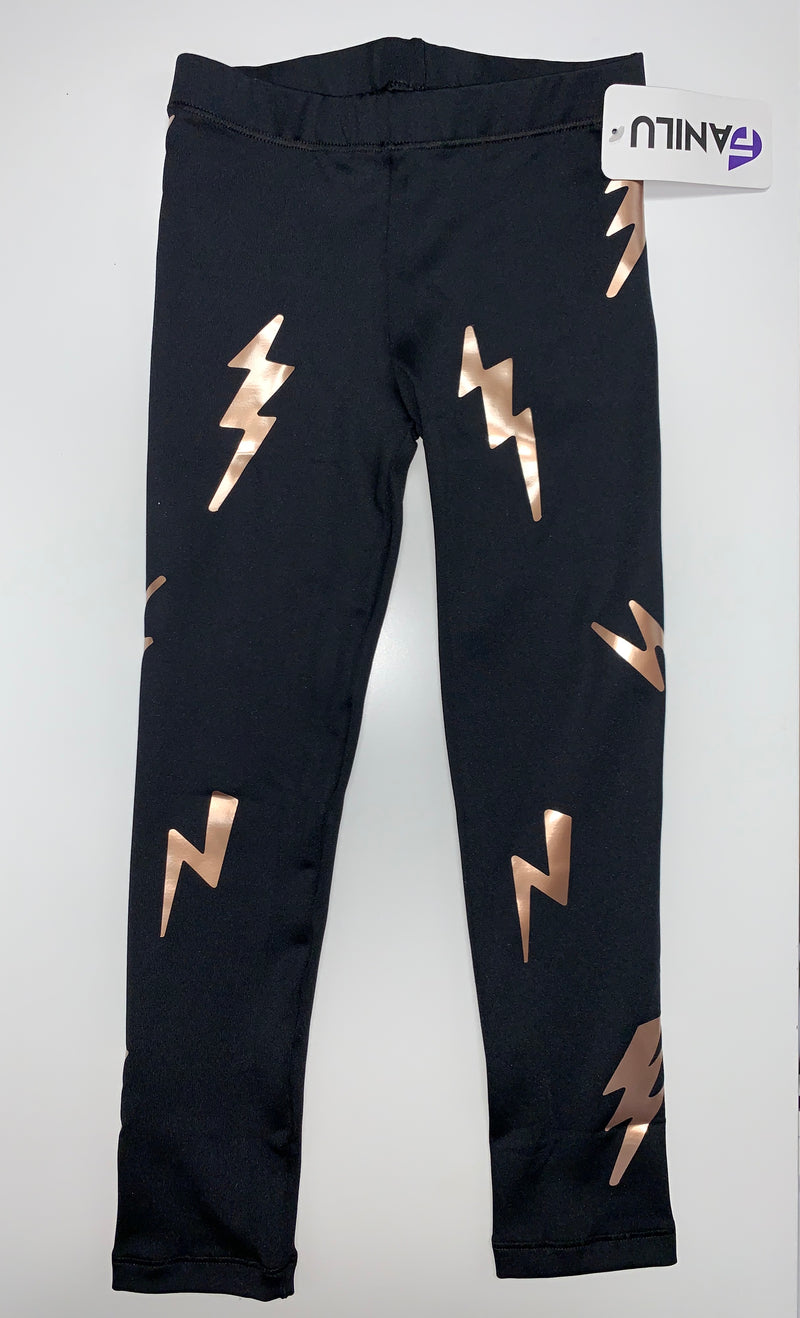 Bolts Rose Gold Leggings