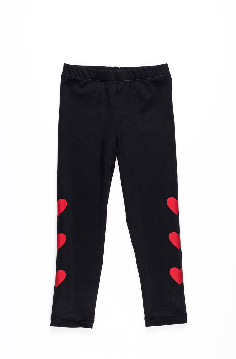 Hearts Red Leggings