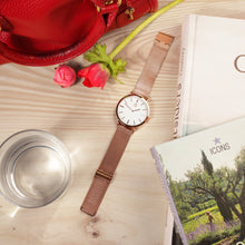 Copper Watch Cluns minimalist nylon rose gold