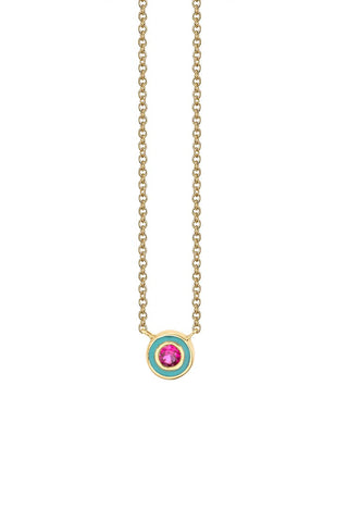 Sydney Evan, Ruby & Enamel Necklace