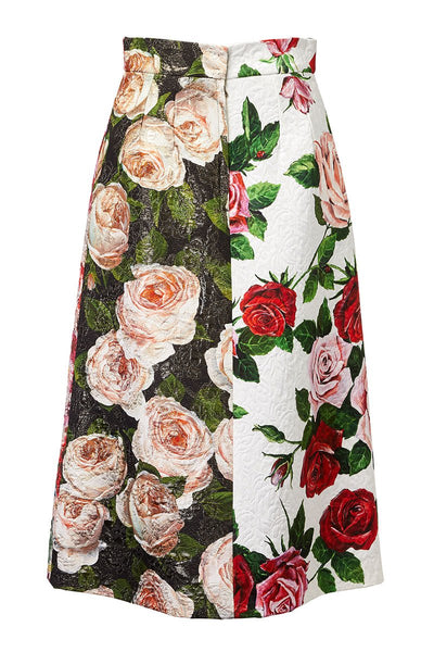 Dolce & Gabbana, Mixed Floral Skirt