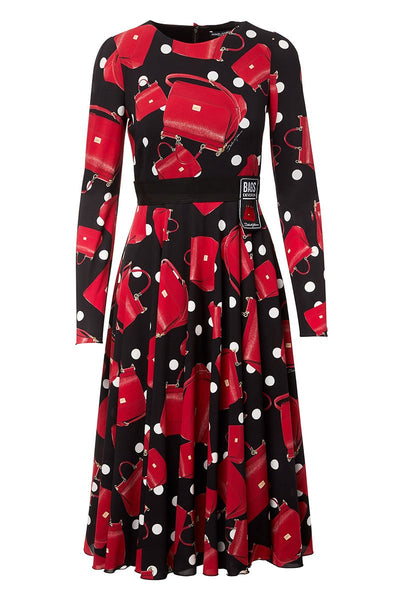 Dolce & Gabbana, Godet Printed Dress