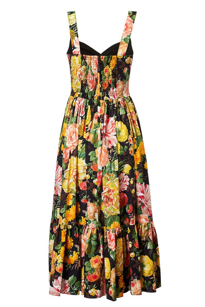 Dolce & Gabbana, Mix Flowers Bustier Dress