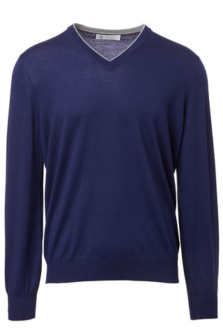 Brunello Cucinelli, Lightweight V-Neck Sweater