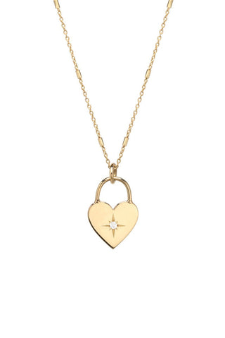Zoë Chicco, Heart Padlock Necklace