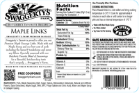 Swaggerty's Farm 12oz Premium Maple Pork Breakfast Sausage Links - Nutrition Facts