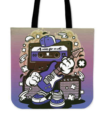 Amped Guitar Tote Bag for Musicians and Music Freaks