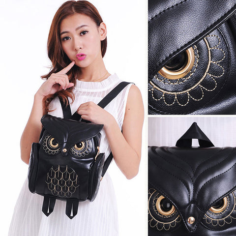 Love Owl Leather Fashion Backpack