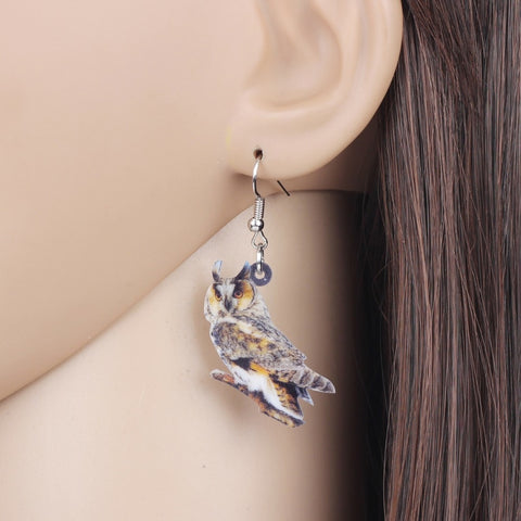 Long-eared Owl Earrings - Free + Shipping