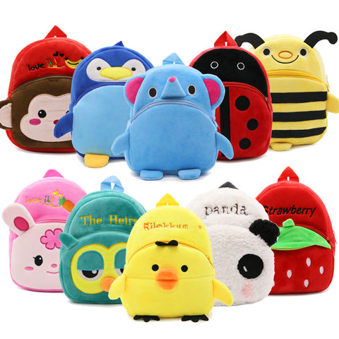 Kid's Cute Plush Animal School Bags