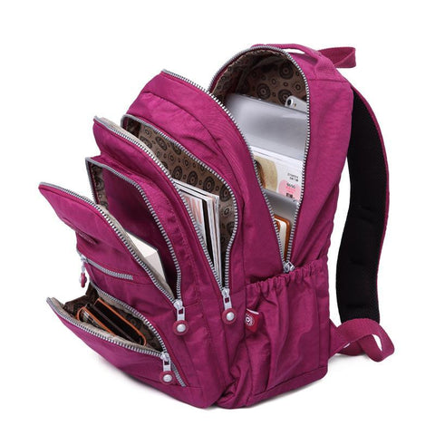 Nylon Waterproof Travel And School Backpacks