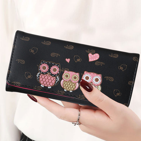 Women Cute Owl Lady Coin Purse Wallets - Free + Shipping