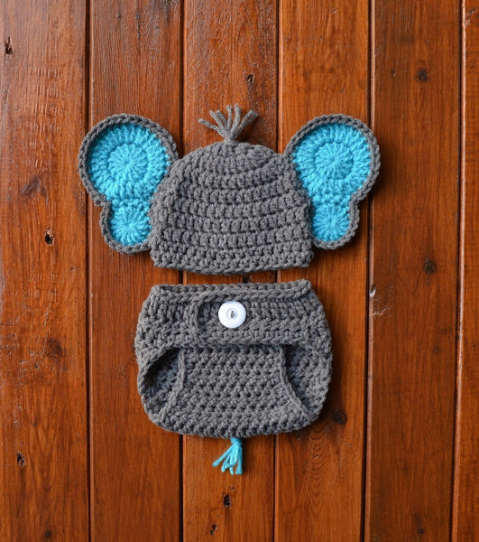 Newborn Baby Elephant Prop Outfit