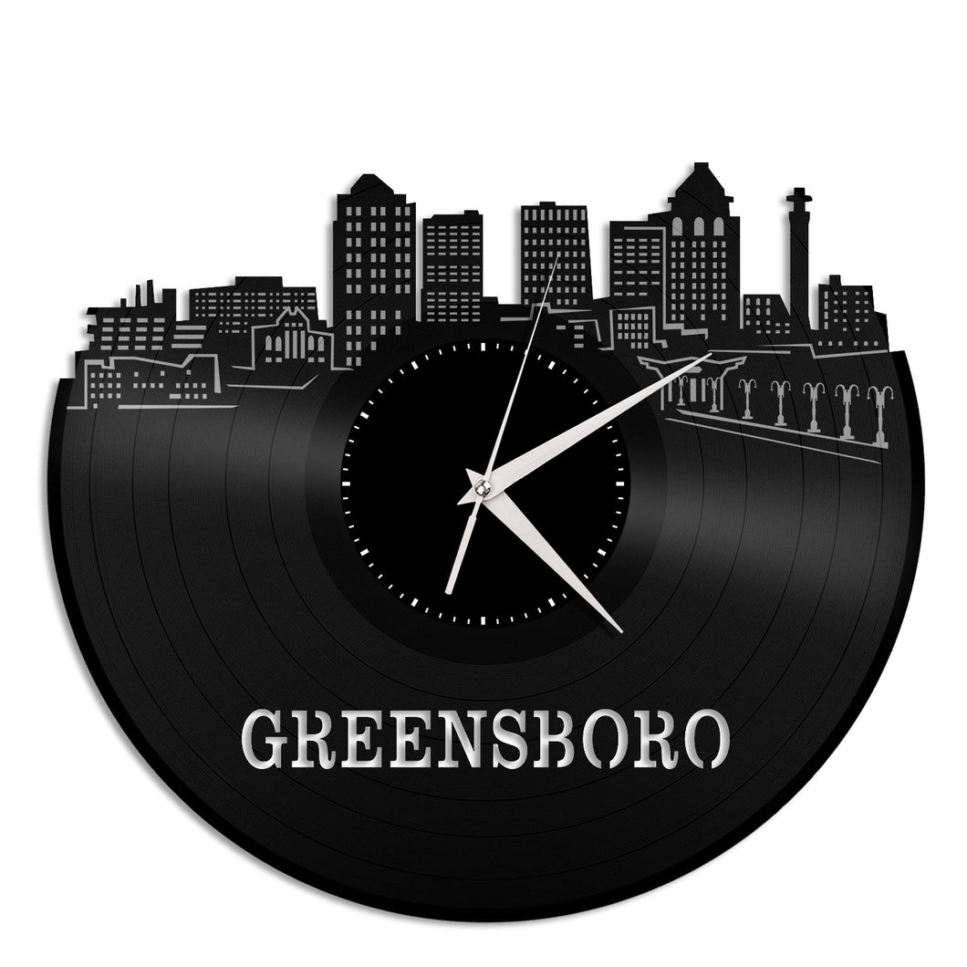 Greensboro Vinyl Wall Clock