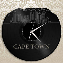 Cape Town Africa Skyline Wall Clock - VinylShop.US