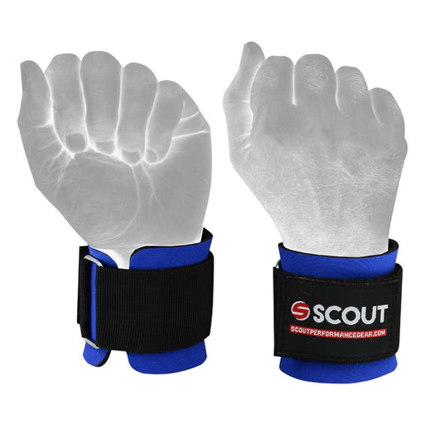 SPG Weight Lifting Neoprene Wrist Support Wraps Gym Workout Blue - Scout Performance Gear