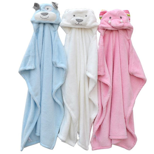 Hooded Animal Bath Towel
