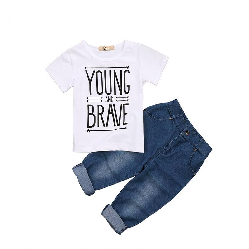 Young & Brave Short Sleeve Set