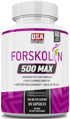 Forskolin 500 MAX Weight Loss Pills Only from USA Supplements.