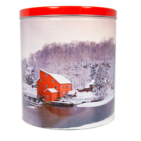 *Special Edition Red Mill Popcorn Tin - 3.5 Gallon
