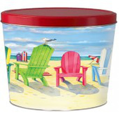 Beach Chairs Popcorn Tin - 2 Gallon