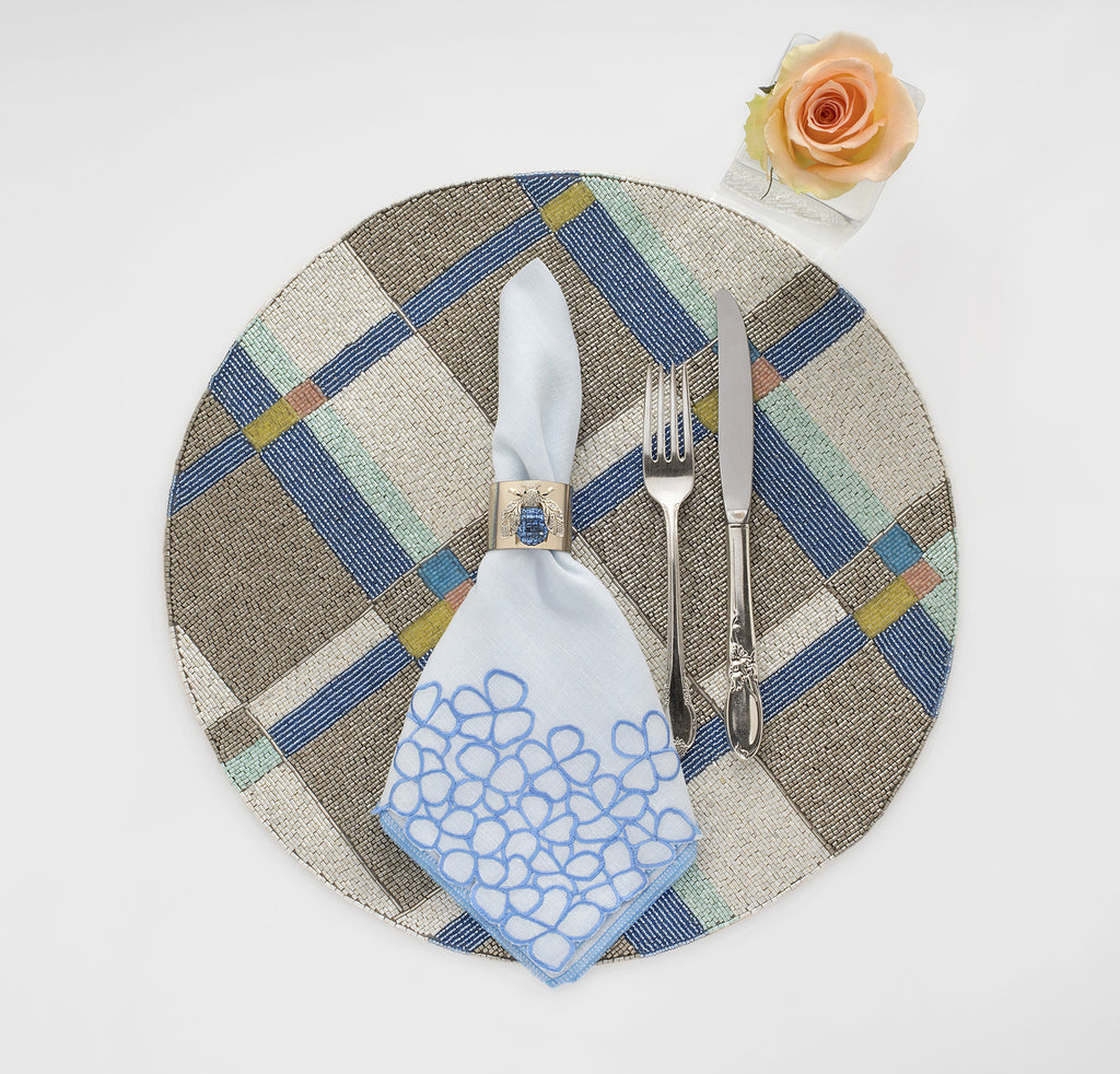 Plaid placemat, pastel