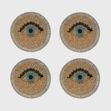 Evil eye coasters, set of four