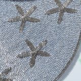 Starfish placemat, silver