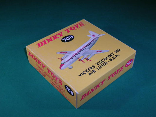 Dinky Toys #708 Vickers Viscount 800 Air Liner - B. E. A.