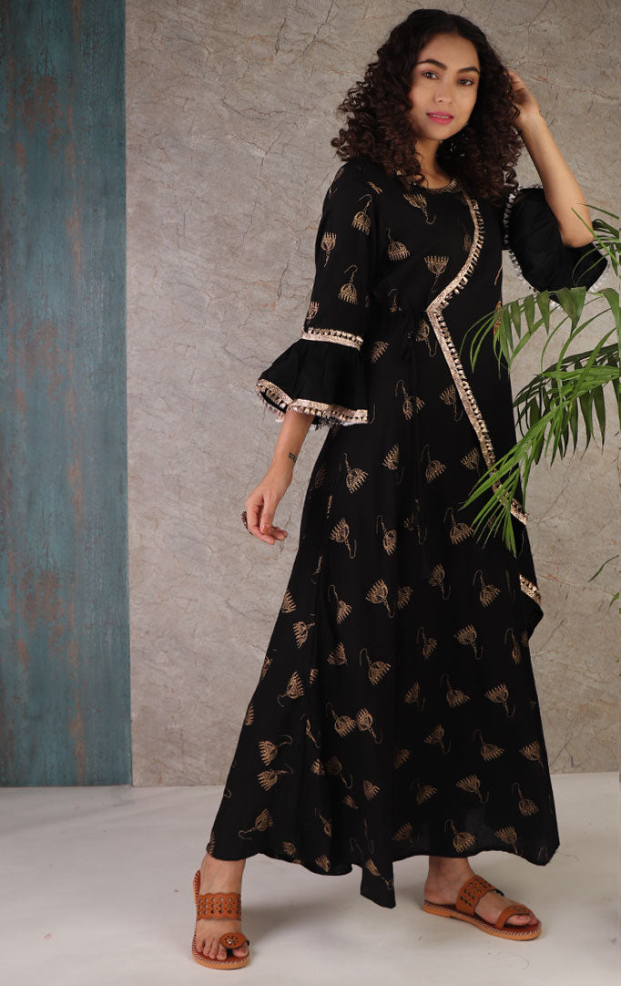 Scattered Jhumkas Maxi Dress