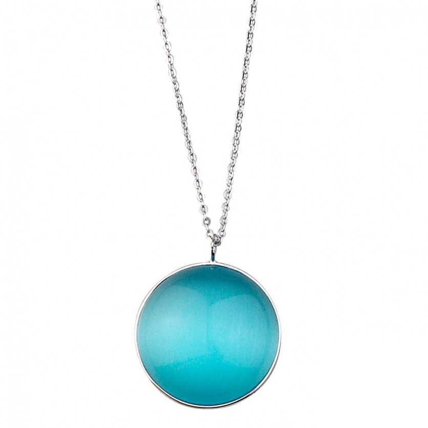 Blue Cat Eye Necklace