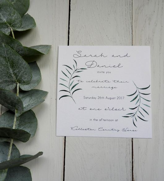 Olive Twigs Invitation