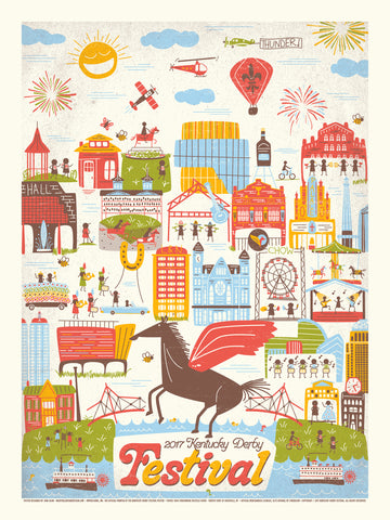 2017 Kentucky Derby Festival Poster
