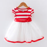 Stripes & Tulle Dress - Adventure Baby Gear