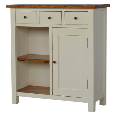 3 Drawer 2 Toned Cabinet with Open Slot-Occasional Furniture-Chic Concept