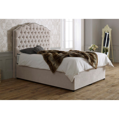 Amelia Curved Bespoke Chesterfield Divan Storage Bed-Bed-Chic Concept