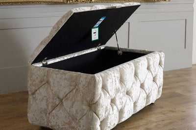 4 Sided Chesterfield Ottoman Storage Box-Ottoman Box-Chic Concept