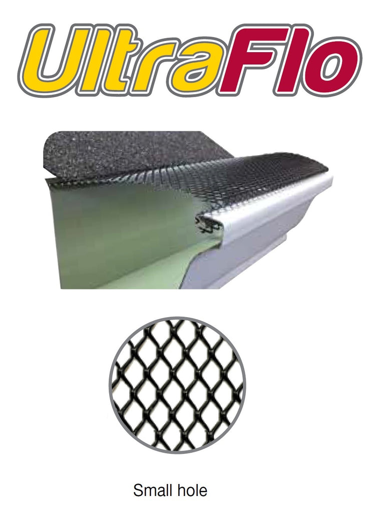 6 Quot Ultra Flo Gutter Leaf Guard Small Hole 100 Feet