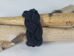 Coal Black Lucet Cord Multi Twist Bracelet