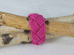 Hot Pink Lucet Cord Multi Twist Bracelet