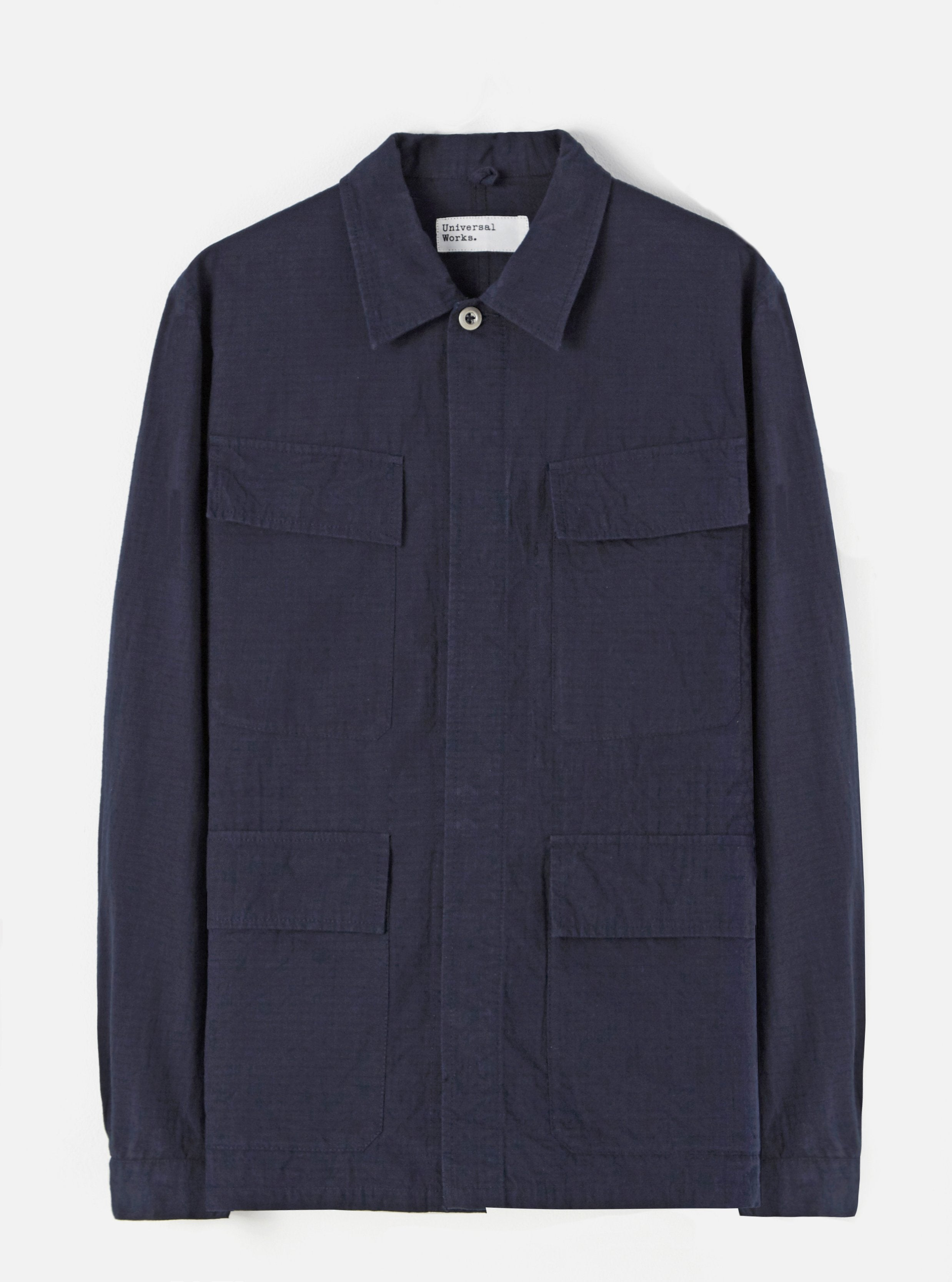 Universal Works MW Fatigue Jacket (Navy Ripstop)
